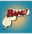 Comic bubble silhouette gun shot Bang vector image vector image