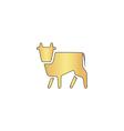Cow computer symbol vector image vector image