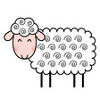 cute cartoon sheep vector image vector image