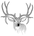 Deer head animal for t-shirt sketch tattoo design vector | Price: 1 Credit (USD $1)