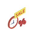 discount sale symbol isometric 3d icon vector image