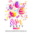 easter party invitation card vector image vector image