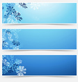 Falling snow winter new year web headers vector image vector image