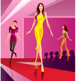 Fashion models representing a new collection vector image vector image