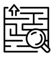 find solution icon outline style vector image