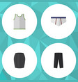 flat icon garment set of stylish apparel pants vector image vector image