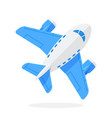 flat toy blue plane vector image