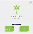 fork nature food equipment simple flat logo vector image vector image