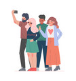 friends taking selfie with smartphone young vector image vector image