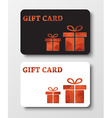Gift card templates with abstract polygonal boxes vector image