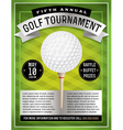 Golf Flyer and Poster vector image vector image