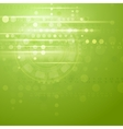 Green hi-tech background vector image vector image