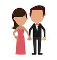 happy couple relationship vector image