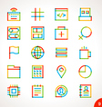 Highlighter Line Icons Set 9 vector image