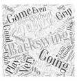 Improving Your Backswing Effectively Word Cloud vector image vector image