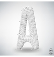 letter A Fonts of Mesh vector image vector image
