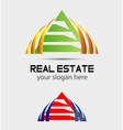 Logo with roof triangle sign vector image vector image