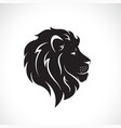 male lion head design on a white background wild vector image