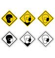 medical mask icons set vector image
