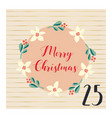 merry christmas advent calendar hand drawn vector image vector image
