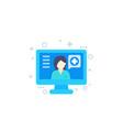 online medical consultation telemedicine icon vector image vector image