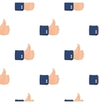 Patriotic thumb up icon in cartoon style isolated vector image