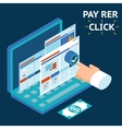 Pay per click infographics vector image