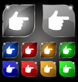pointing hand icon sign Set of ten colorful vector image vector image