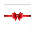 red ribbon bow 03 vector image