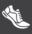 running shoes glyph icon fitness and sport vector image vector image
