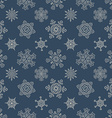 Seamless Christmas pattern with drawn snowflakes vector image vector image
