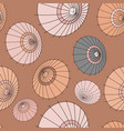 seamless pattern with beige japan umbrellas vector image