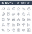 set line icons octoberfest vector image