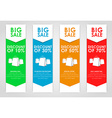 Set of colored banners for sale vector image vector image