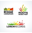 Set of reggae music equalizer logo emblem
