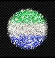 sierra leone flag sparkling badge vector image
