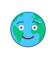 smiley world globe isolated emoticon vector image vector image