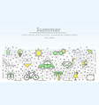 summer advertising flat line art vector image