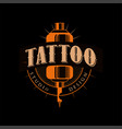 tattoo studio design retro styled emblem with vector image vector image