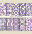 ten seamless patterns in oriental style vector image vector image