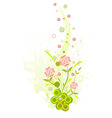 three floral on a grunge background for your desig vector image vector image