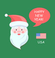 usa santa claus happy new year vector image vector image