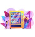 vending machine service concept vector image