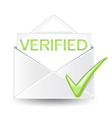 Verified Mail vector image vector image
