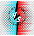 versus letters comic style vs vector image vector image