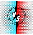 versus letters comic style vs vector image