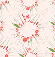 vintage seamless pattern with abstract flowers vector image vector image