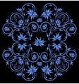 Abstract blue floral ornament vector image
