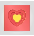 Congratulatory template Happy Valentine vector image