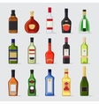 Alcohol in a bottle flat icons vector image